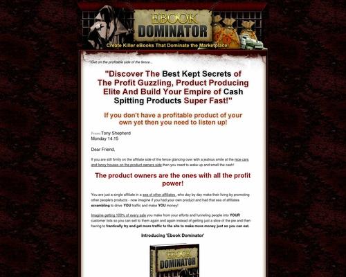 Ebook Domination – Tony Shepherd